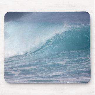 Onda azul que se estrella, Maui, Hawaii, los E.E.U Tapetes De Ratones