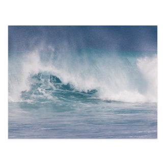 Onda azul que se estrella, Maui, Hawaii, los E.E.U Postales