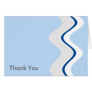 Onda azul tarjeta de felicitación