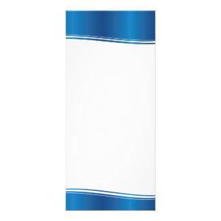 Onda azul tarjetas publicitarias personalizadas