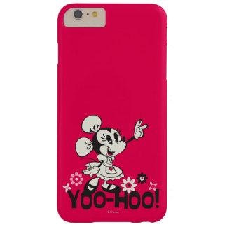 Onda blanco y negro de Yodelberg Minnie el   Funda De iPhone 6 Plus Barely There