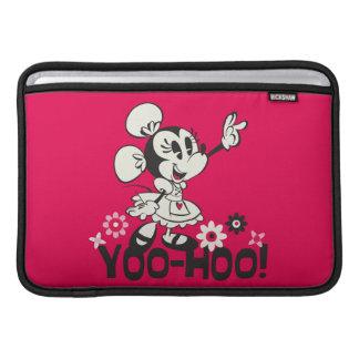 Onda blanco y negro de Yodelberg Minnie el | Funda MacBook