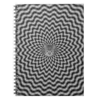 Onda circular del cuaderno en monocromo