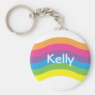 Onda conocida del arco iris llaveros personalizados