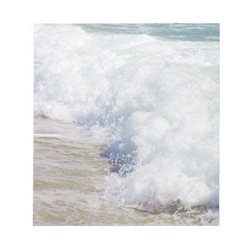 Onda costera del mar del arte de la fotografía de  libreta para notas