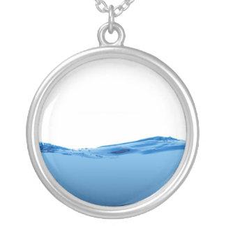 Onda de agua azul colgante redondo