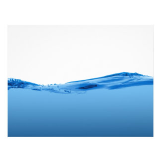 "Onda de agua azul folleto 8.5"" x 11"""
