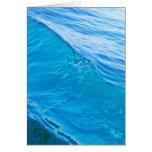 Onda de agua azul fresca tarjeta de felicitación