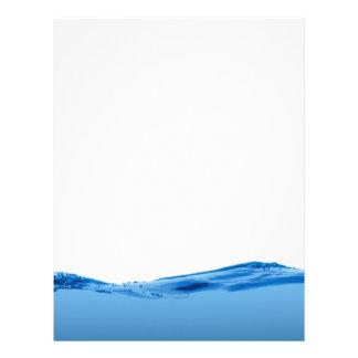 Onda de agua azul membrete
