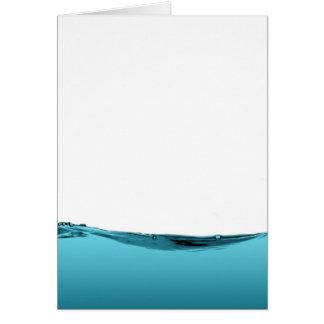 Onda de agua azul tarjeta de felicitación
