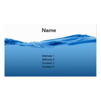 Onda de agua azul tarjetas de visita