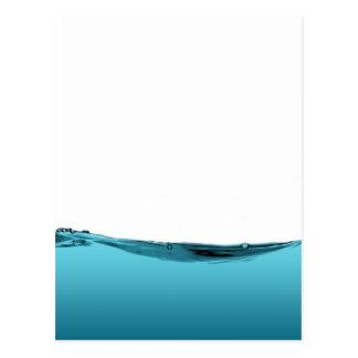 Onda de agua azul tarjetas postales