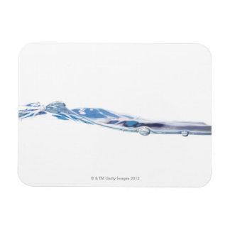 Onda de agua rectangle magnet