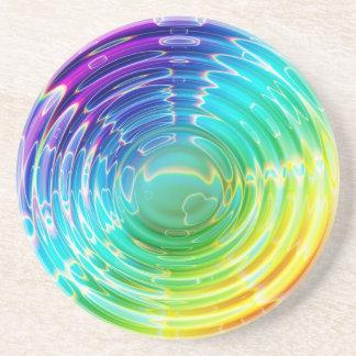 Onda de choque del arco iris posavaso para bebida