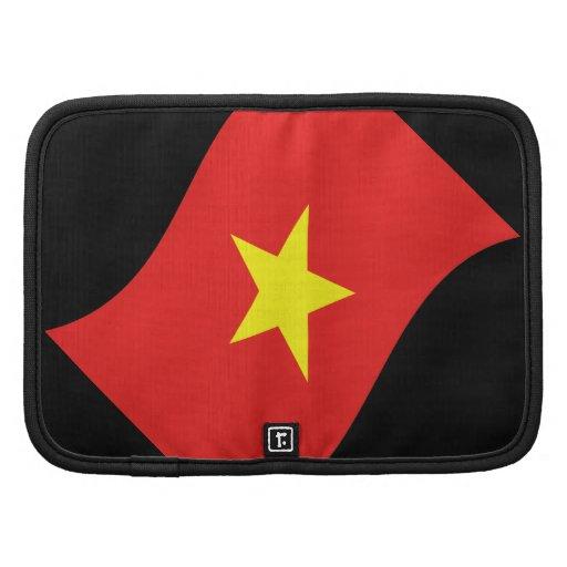 Onda de la bandera de Vietnam Planificador