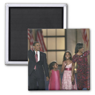 Onda de la familia de Barak Obama en el ayer por l Imán De Frigorifico