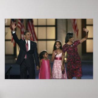 Onda de la familia de Barak Obama en el ayer por l Impresiones