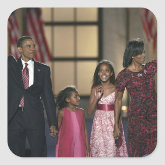 Onda de la familia de Barak Obama en el ayer por l Colcomanias Cuadradas