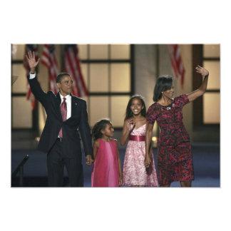 Onda de la familia de Barak Obama en el ayer por l Fotografias