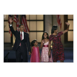 Onda de la familia de Barak Obama en el ayer por l Póster