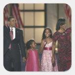 Onda de la familia de Barak Obama en el ayer por Calcomanías Cuadradass Personalizadas