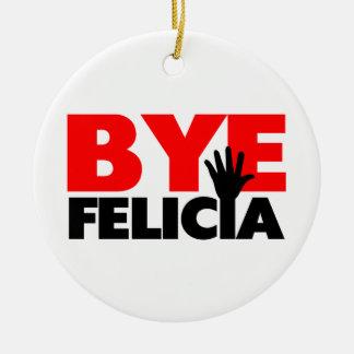 Onda de la mano de Felicia del adiós Adorno Redondo De Cerámica