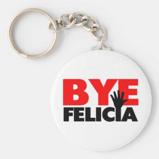 Onda de la mano de Felicia del adiós Llavero Redondo Tipo Pin