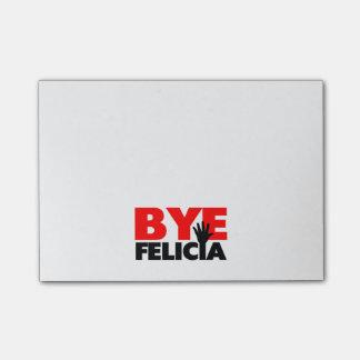 Onda de la mano de Felicia del adiós Notas Post-it®