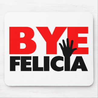 Onda de la mano de Felicia del adiós Tapetes De Raton