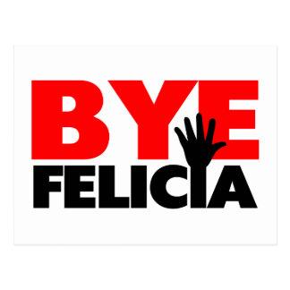 Onda de la mano de Felicia del adiós Tarjeta Postal