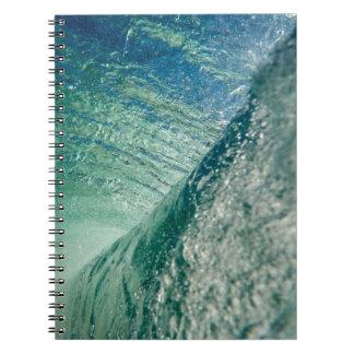Onda de la tubería spiral notebooks