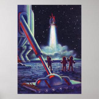 Onda de los extranjeros de la ciencia ficción del poster