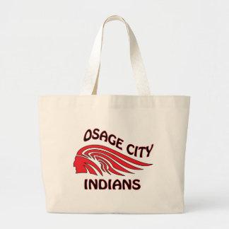 Onda de los indios de la ciudad de Osage Bolsas De Mano