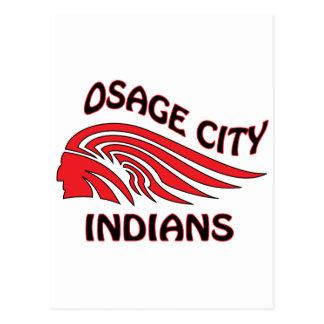 Onda de los indios de la ciudad de Osage Postal