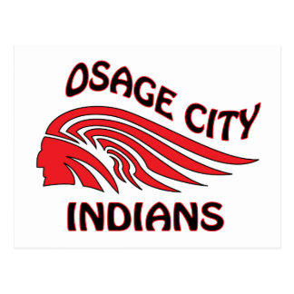Onda de los indios de la ciudad de Osage Postales