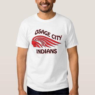 Onda de los indios de la ciudad de Osage Remera