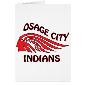 Onda de los indios de la ciudad de Osage Tarjeta De Felicitación