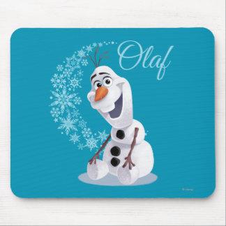 Onda de Olaf el | de copos de nieve Alfombrillas De Ratón