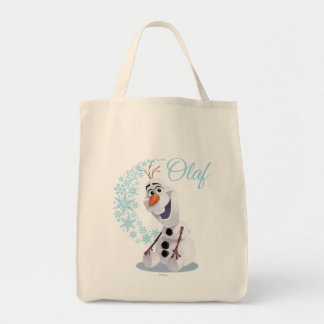 Onda de Olaf el | de copos de nieve Bolsa Tela Para La Compra
