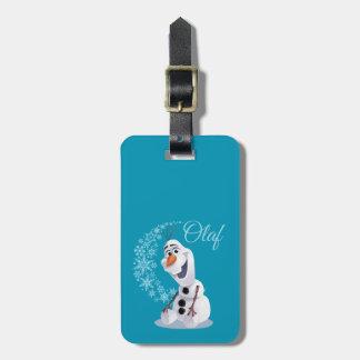 Onda de Olaf el | de copos de nieve Etiquetas Para Maletas