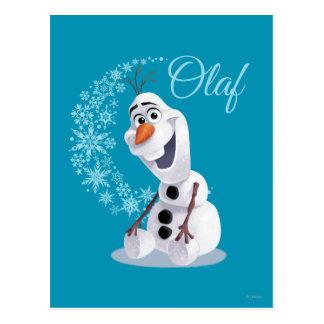 Onda de Olaf el | de copos de nieve Tarjetas Postales
