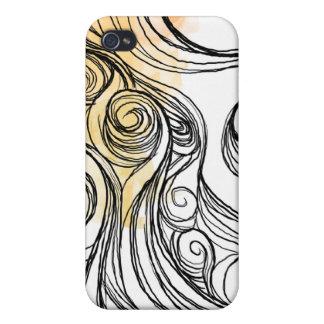 onda del abtract iPhone 4/4S carcasas