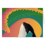 Onda del arco iris de la ballena de la orca felicitación