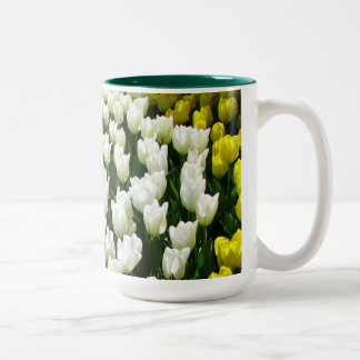 Onda del arco iris del tulipán taza de café