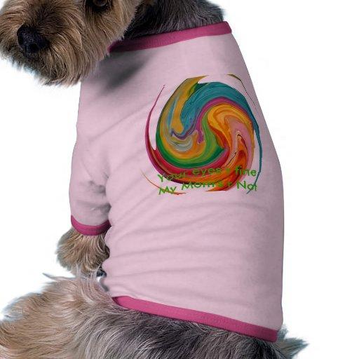 Onda del color camisas de perritos