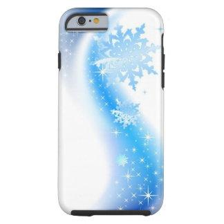 Onda del copo de nieve funda para iPhone 6 tough