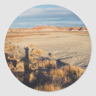 Onda del desierto: Parque nacional del bosque Etiquetas Redondas