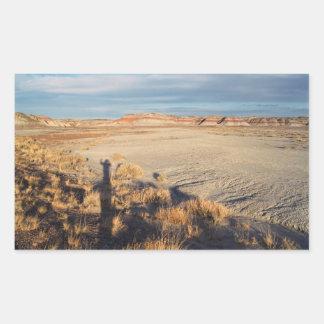 Onda del desierto: Parque nacional del bosque Pegatina Rectangular