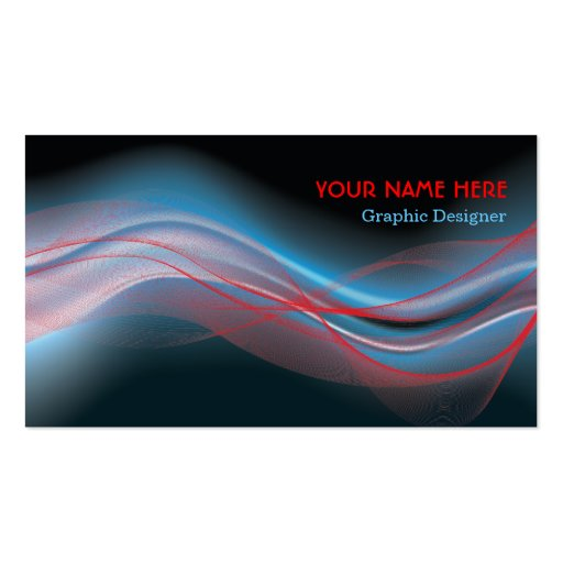Onda del rojo azul de la tarjeta de visita del dis