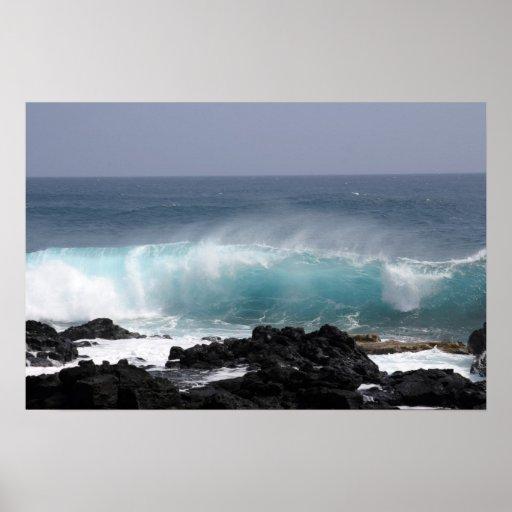 Onda del sur del punto, Hawaii Poster
